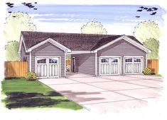 3 Car Garage Plus Carport - 62479DJ   Architectural Designs - House Plans