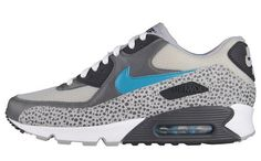 Sneaker: Nike Air Max 90 Safari – Grey/ Blue