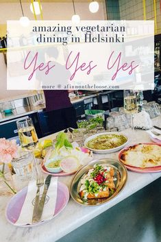 One of the best restaurants in Helsinki, and it's all vegetarian! Halloumi, Meat Lovers, Yes, Helsinki, Travel Around The World, Finger Foods, Restaurants, Vegetarian, Dishes