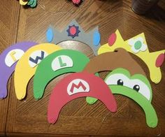 There is a lot of stuff out there to make Mario hats, but the options are seriously lacking in the simple and cheap department. My son's birthday party theme this year was Mario Party 10 and I wanted each child to be able to choose one of the 12 characters to play as for the party. I needed a really inexpensive and quick way to get hats for each character. I found through my search for ideas on the web that someone bought those foam visors, had the kids wear them upside down and but the…