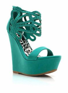 teal wedges....just love the color!!!
