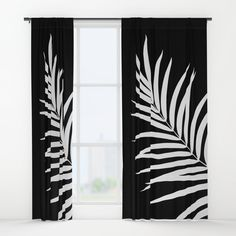 8db9200e1fc9 Buy Tropical Palm Leaf  2  botanical  decor  art  society6 Window Curtains