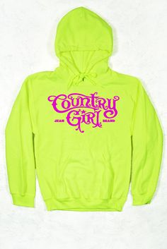 FRONT VIEW - Relaxed Pullover Hoodie - Country Girl ® Logo