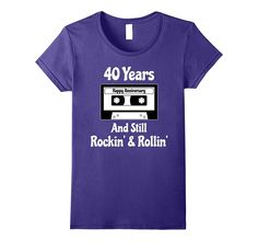 40th Wedding Anniversary Gift 40 Years T-shirt Cassette Tape