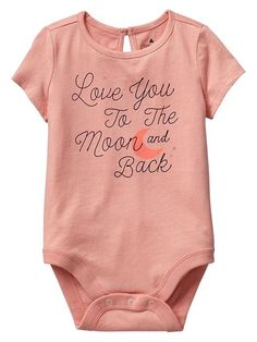 love you to the moon and back baby bodysuit - screen print this myself