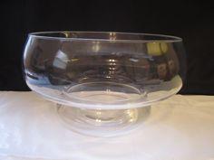 Vintage Lucite Mushroom Bowl Terrarium Fairy Garden Fish Bowl Clear Serving Dish #Unknown