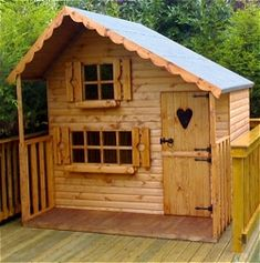 play houses for kids | Wooden Playhouse For Children - Timber Play Houses for Kids