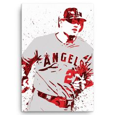 Mike Trout Los Angeles Angels of Anahiem Poster