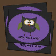 "Free printable~ Happy ""Owl""O-Ween Card"