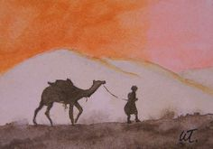 Lonely Travels is an ACEO from a travel guide. 25. Original/ Prints available