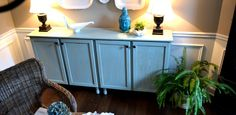 DIY Sideboard Using Stock Kitchen Cabinets