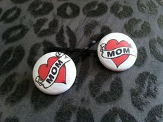 Rockabilly MoM Heart Tattoo Red and Black by MyBeautifulDelilah, $3.00