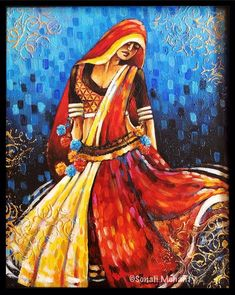 Dancing belle Poster by Sonali Mohanty India Painting, Mural Painting, Mural Art, Acrylic Paintings, Fabric Painting, Landscape Paintings, Indian Artwork, Indian Folk Art, Indian Art Paintings