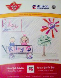 "Beautiful poster created from Madeline Taylor's original art. She's the 8 year old daughter of Allison Transmission employee John A. Taylor. In Madeline's own words ""Riley Hospital for Children, For New Beginnings""."