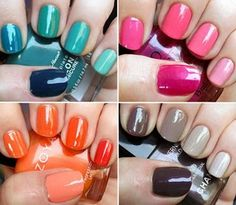 """""""ombre"""" nails = painting nails lightest to darkest in sam color family. Awesome Idea :)"""