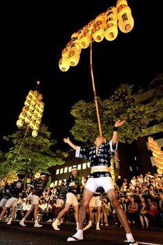 竿燈祭り、秋田竿燈祭り、祭り/The Akita Kanto Matsuri
