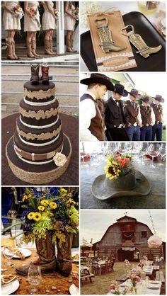 Western Cowboy Country Theme Wedding Ideas from HotRef.com #CountryWedding