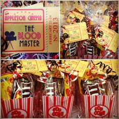My movie themed party favors I made for a cast party Source by Backyard Movie Party, Outdoor Movie Party, Wedding Backyard, Movie Theater Party, Movie Night Party, Movie Nights, 10th Birthday Parties, Birthday Party Favors, Birthday Ideas