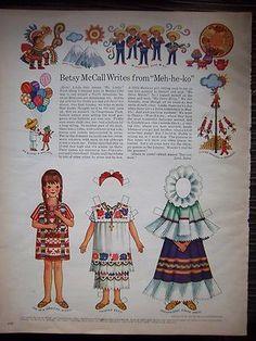 Betsy visits Mexico Paper Dolls:  Oaxaca Huipil de Papaloapan; Yucatan Terno, Oaxaca Tehuana.