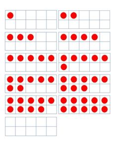 Five and ten frame cards that can be used for various games.... Kindergarten Math Activities, Preschool Math, Fun Math, Teaching Math, Math Rotations, Math Centers, Numeracy, Numbers Preschool, Math Numbers