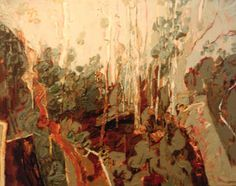 Elizabeth Cummings - Afternoon light in the Gorge, 1978 - synthetic polymer and oil on canvas.