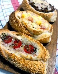 Pão francês recheado para um lanche rápido