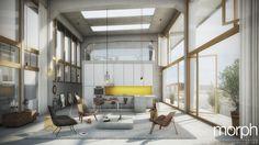 Tribünen +2 | Wien | ® morph architekturvisualisierung Room, Furniture, Home Decor, Architecture, Bedroom, Homemade Home Decor, Home Furnishings, Interior Design, Home Interior Design