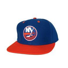 4762040757e NEW YORK ISLANDERS Retro Old School Snapback Hat - NHL Cap - 2 Tone Blue/