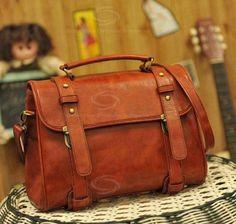 Tan satchel bag