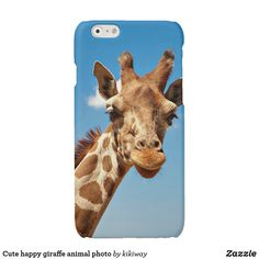 Shop Cute happy giraffe animal photo iPhone case created by kikiway. Image Photography, Animal Photography, Iphone 6 Cases, Phone Case, Cute Giraffe, Cute Creatures, Exotic Pets, Funny Cute, Funny Animals
