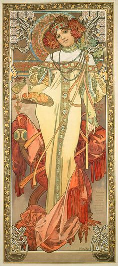 The Seasons: Autumn, 1900 - Alphonse Mucha
