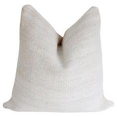 Antique Nubby Natural Hemp Pillow