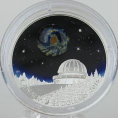 Canada 2016 $20 The Universe 1 oz Pure Silver Luminescent Borosilicate Glass