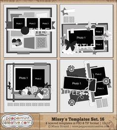 "Missy's Templates Set.16 (12x12"")"