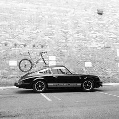 instavelo:  Most people are following me because of bikes not cars, but I still love cars. Sometimes the two can get along just fine. #porsc...