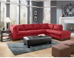 soho upholstery collection value city furniture2 pc sectional