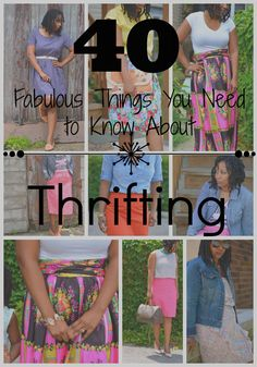 Thrift shopping -- why you should, how to thrift, where to thrift, and what to thrift!