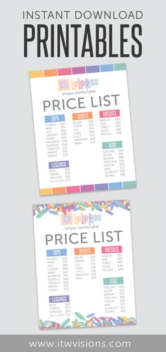 lularoe price sheet lularoe prices list lularoe business cards website price price chart price list lularoe logo peanut butter business ideas - Free Price List Template