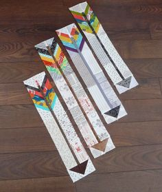 Tutorial for making arrow blocks from Grace and Favour blog.  Wouldn't these make a neat border?
