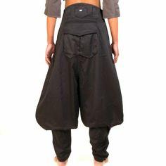Pantalon japonais nikka poche dos