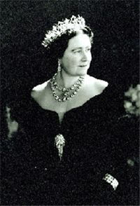 Queen Elizabeth the Queen Mother (b.1900), wearing the Oriental Circlet tiara; by Cecil Beaton (1904 - 1980); English; 1948.