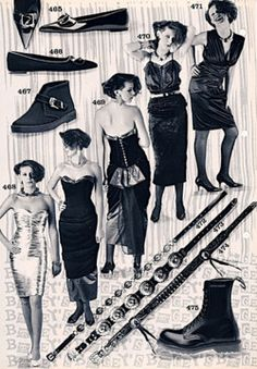 One of the ways for (worldwide) goths to get pointy boots and 'goth' clothing: ordering via british catalogs.