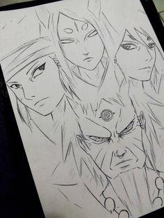 Rikudou Ashura Indra Kaguya xD by DiegoYojiJoji Anime Naruto, Naruto Madara, Naruto Shippuden Sasuke, Naruto Art, Manga Anime, Boruto, Gaara, Naruto Drawings, Naruto Sketch