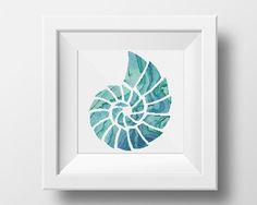 Seashell Cross Stitch Pattern, Nautical PDF Pattern, Embroidery Instant…