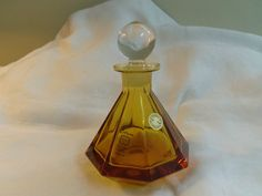 Hey, I found this really awesome Etsy listing at https://www.etsy.com/listing/217557611/perfume-bottle-amber-lead-crystal
