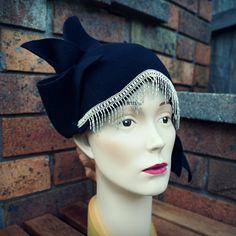 """Violet"" Black Cloche from Tanith Rowan Designs"