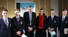 JP II Awards - Sean McMahon, Jack Savage, Bishop Nulty, Ms Anne Marie Dolan James Tyrell and Frank Keating