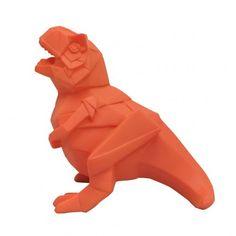 T-Rex Orange Dino Mini LED Lamp - Novelty Dinosaur Desk Light