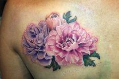 Peony Flower Tattoo Designs | realistic-peony-flower-tattoo
