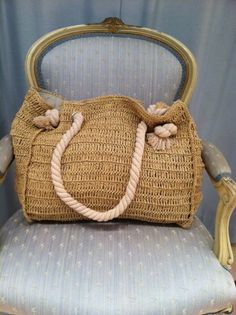 Straw Day Tote $85